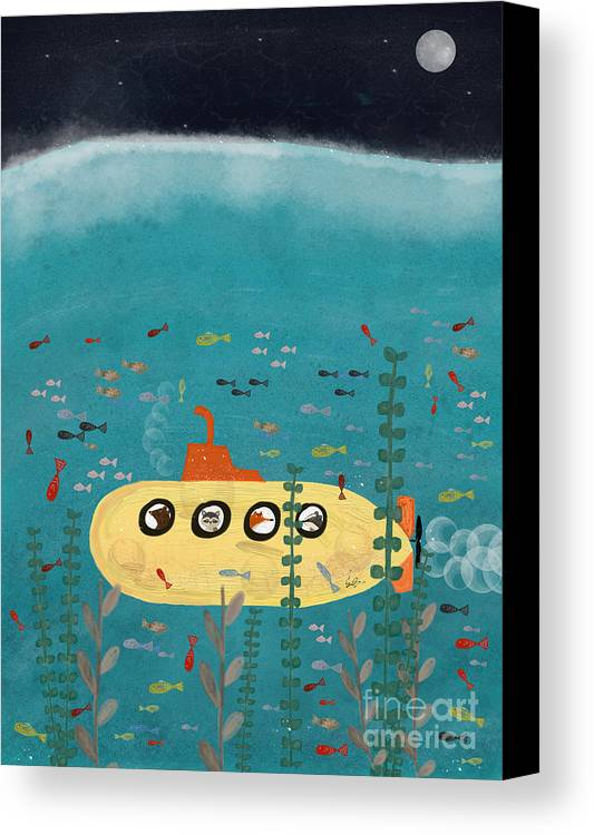 Animals Canvas Print featuring the painting Another Little Advenutre by Bri Buckley