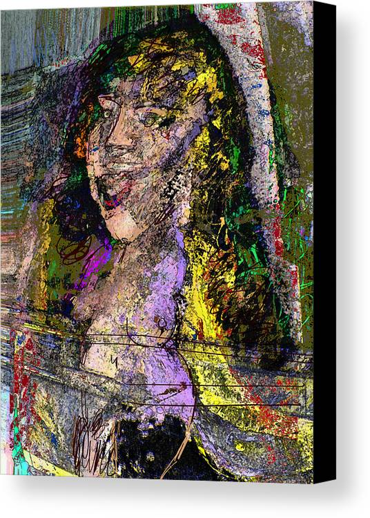 Canvas Print featuring the painting Art by Noredin Morgan