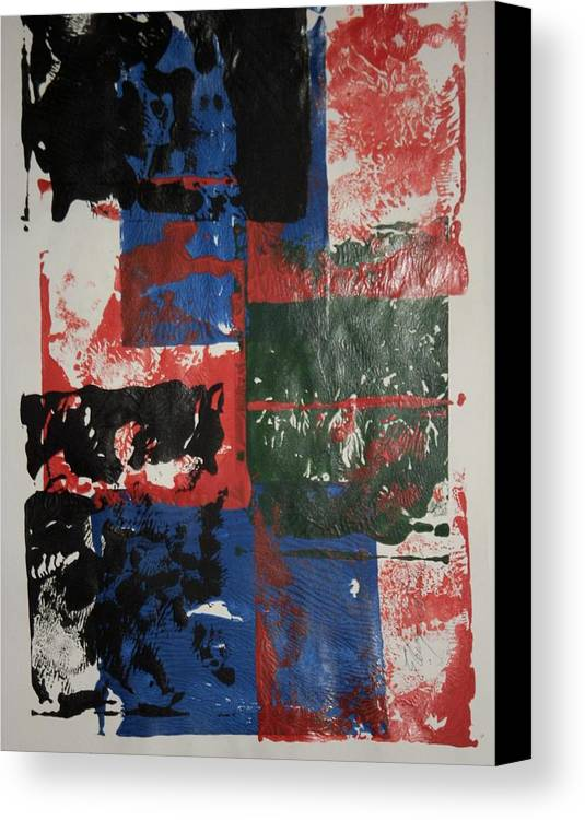 Abstract Canvas Print featuring the painting Ash Wednesday by Edward Wolverton