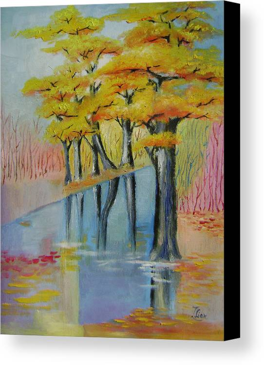 Abstract Canvas Print featuring the painting Autumn by Lian Zhen