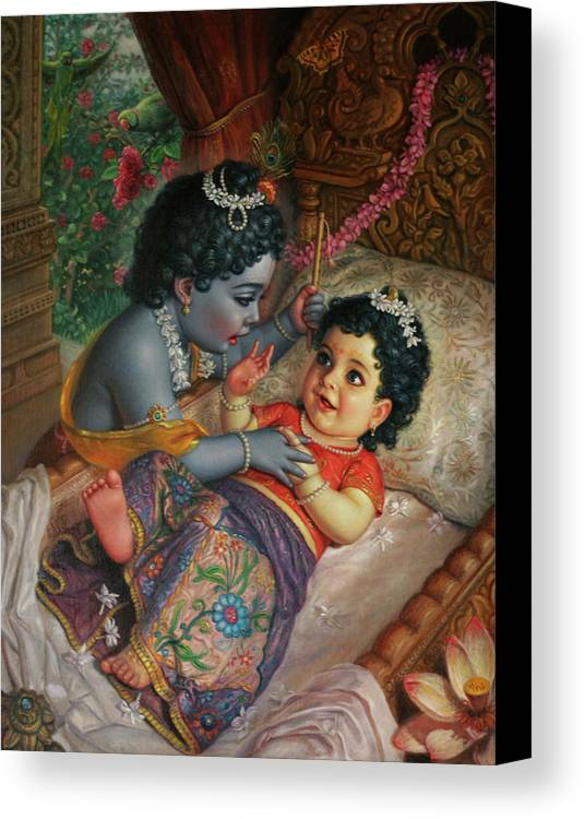 Baby Canvas Print featuring the painting Babies by Satchitananda das Saccidananda das