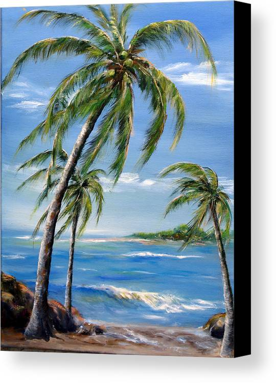 Hawaii Canvas Print featuring the painting Balmy Breeze by Thomas Restifo