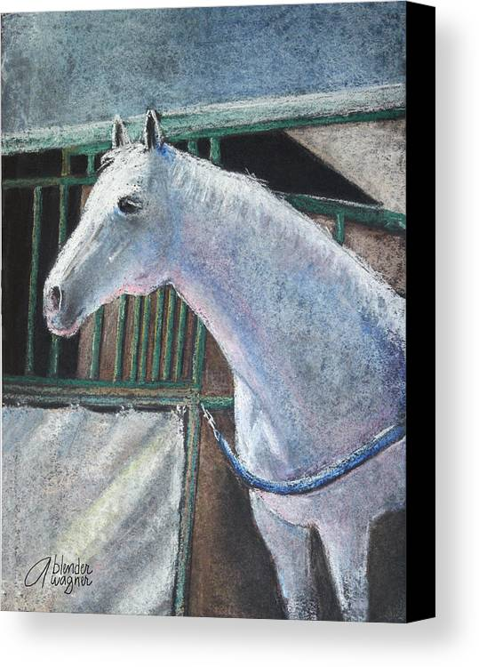 Horse Canvas Print featuring the pastel Beauty by Arline Wagner