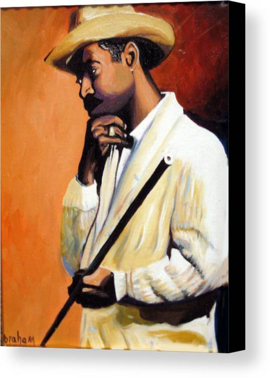 Cuban Art Canvas Print featuring the painting Benny 2 by Jose Manuel Abraham