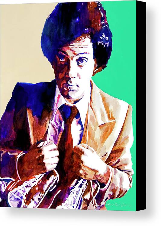 Billy Joel Canvas Print featuring the painting Billy Joel - New York State Of Mind by David Lloyd Glover