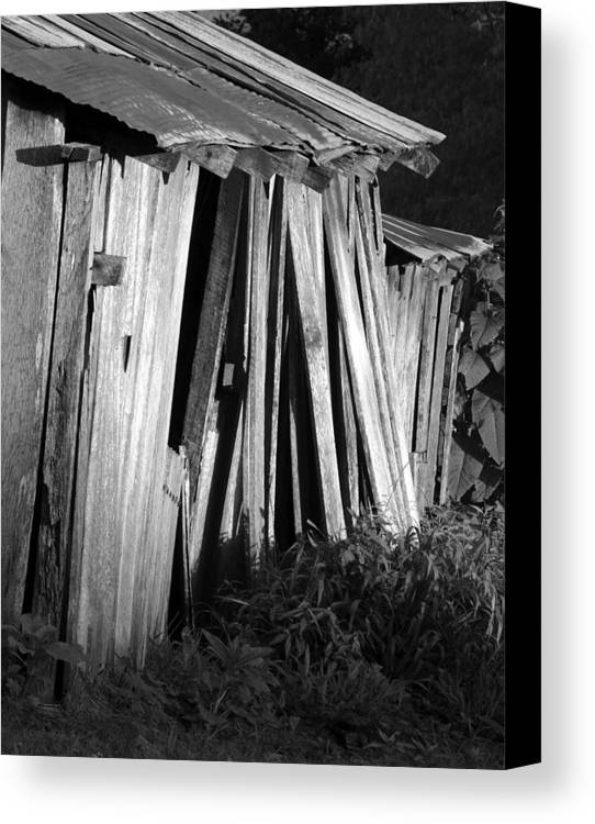 Ansel Adams Canvas Print featuring the photograph Blackburn-barn by Curtis J Neeley Jr