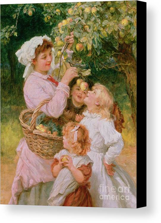 Frederick Morgan Canvas Print featuring the painting Bob Apple by Frederick Morgan
