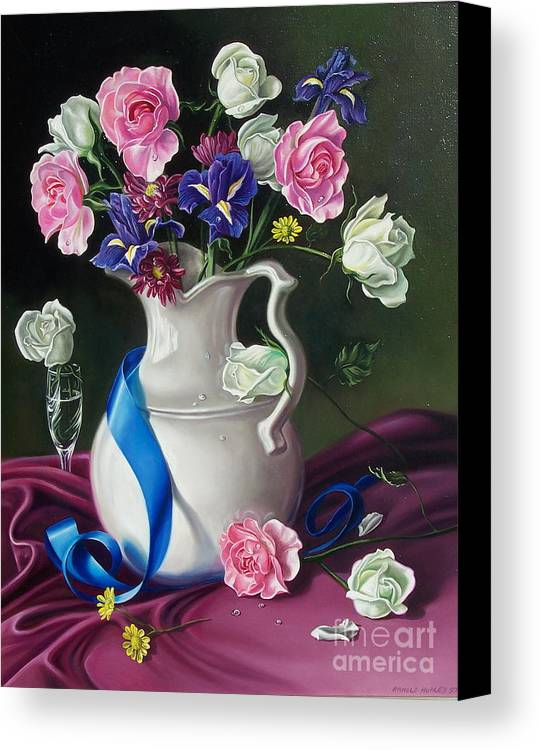 Floral Canvas Print featuring the painting Bouquet by Arnold Hurley