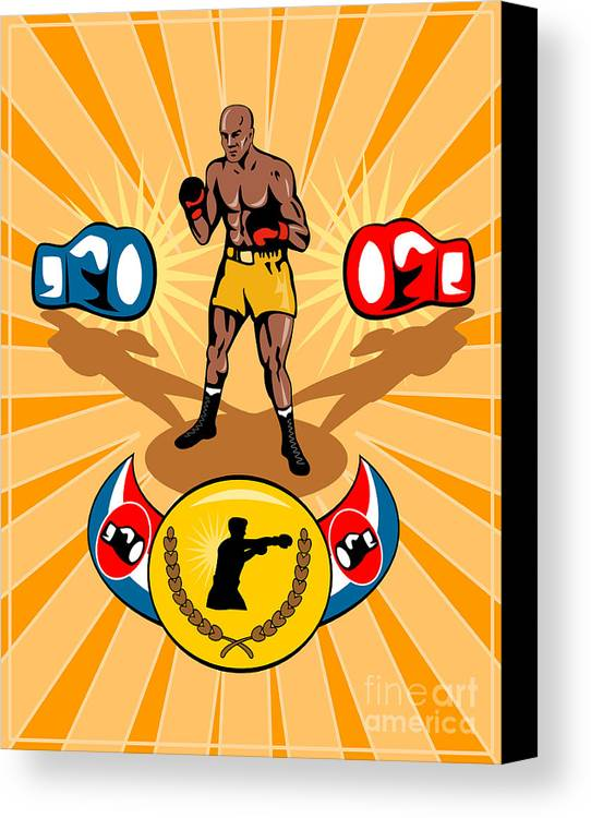 Boxer Canvas Print featuring the digital art Boxer Boxing Poster by Aloysius Patrimonio