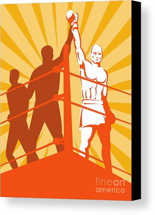 Boxing Canvas Print featuring the digital art Boxing Champion by Aloysius Patrimonio