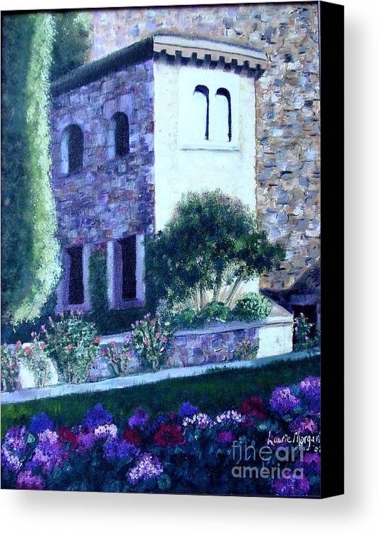 Italy Canvas Print featuring the painting Castle Sestri Levante by Laurie Morgan