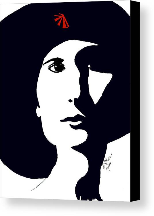Chic Canvas Print featuring the drawing Chic by Donna Proctor