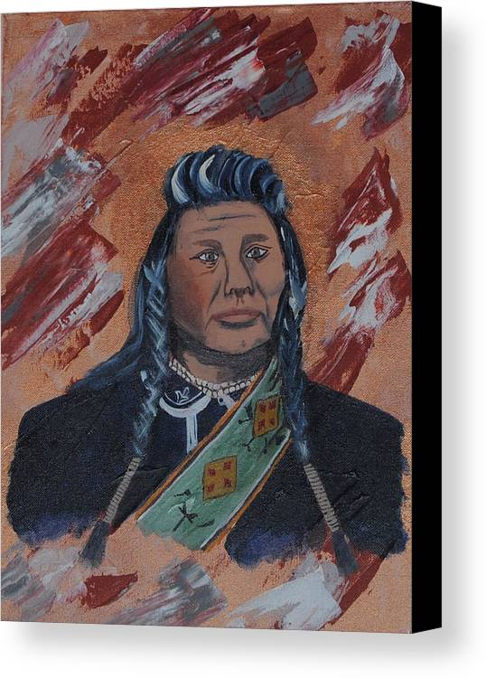 Chief Canvas Print featuring the painting Chief Joseph by Robert Kelley