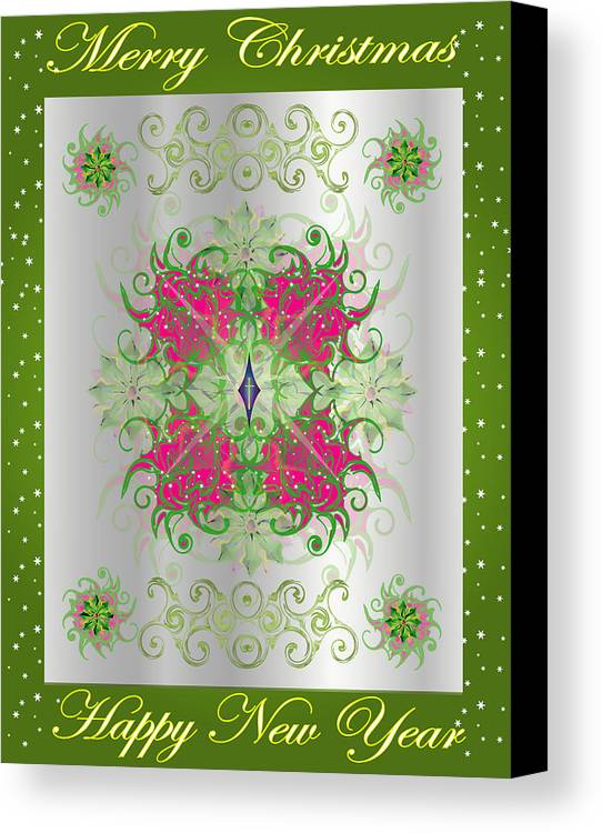 Christmas Canvas Print featuring the digital art Christmas Poster 1 by George Pasini