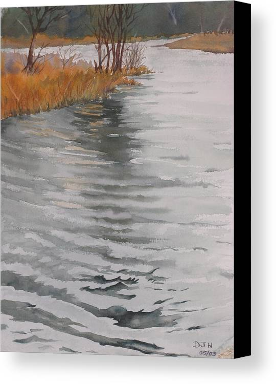 Canvas Print featuring the painting Cold Water by Debbie Homewood