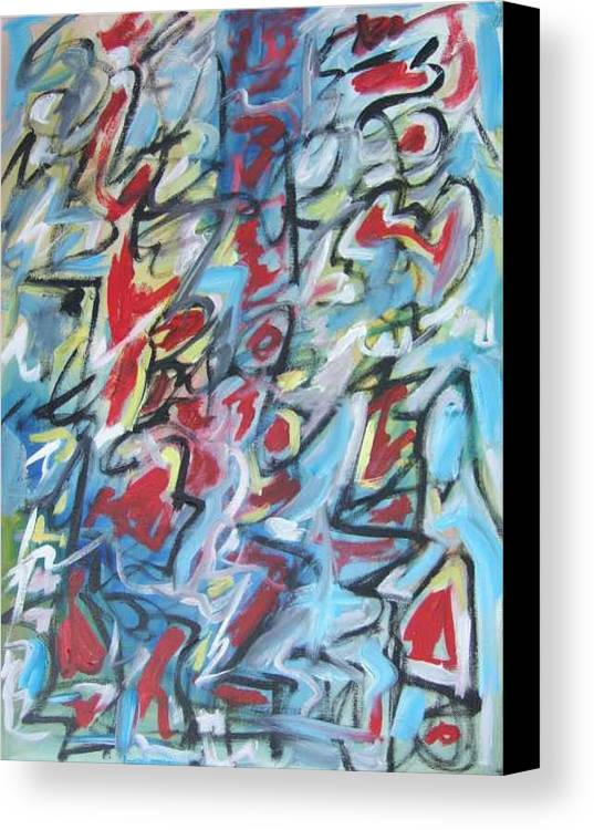 Abstract Canvas Print featuring the painting Composition No 7 by Michael Henderson