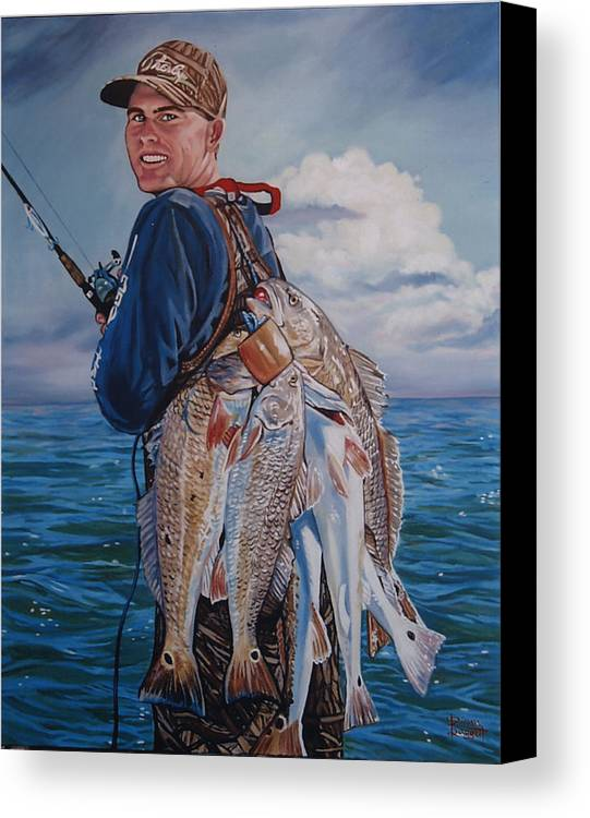 Portrait Canvas Print featuring the painting Cory by Diann Baggett