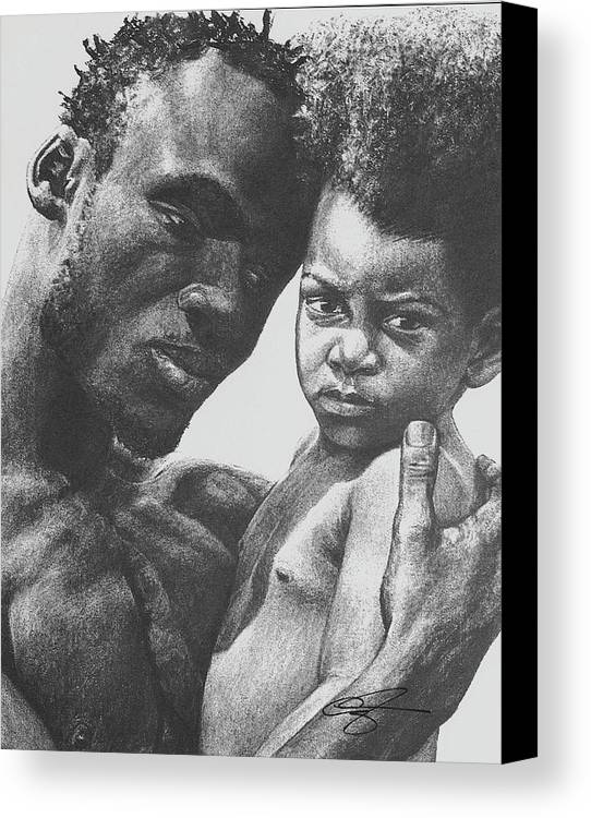 Dads Canvas Print featuring the drawing Daddy's Home by Curtis James