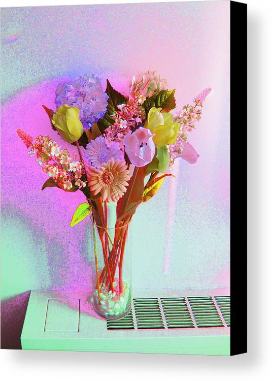 Modern Digital Art Canvas Print featuring the photograph Dating Flowers by Monica Smith