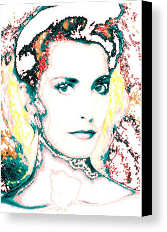 Digital Canvas Print featuring the digital art Digital Self Portrait by Kathleen Sepulveda