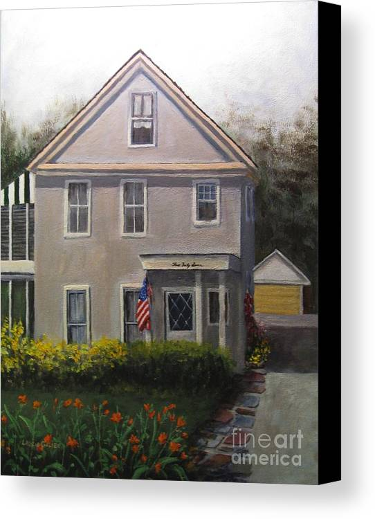 House Canvas Print featuring the painting Duncan Homestead by Laurie Golden