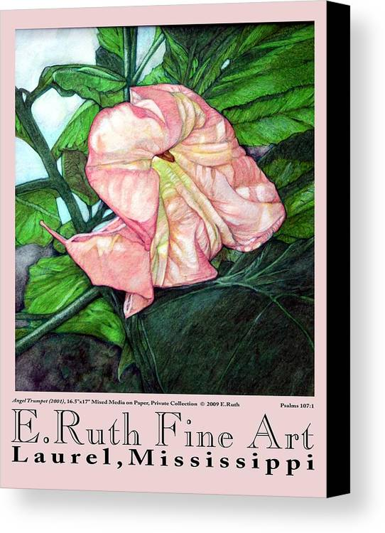 Poster Canvas Print featuring the digital art E.ruth Fine Art Poster 1 by Edward Ruth