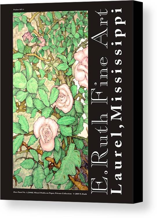 Poster Canvas Print featuring the digital art E.ruth Fine Art Poster No 3 by Edward Ruth