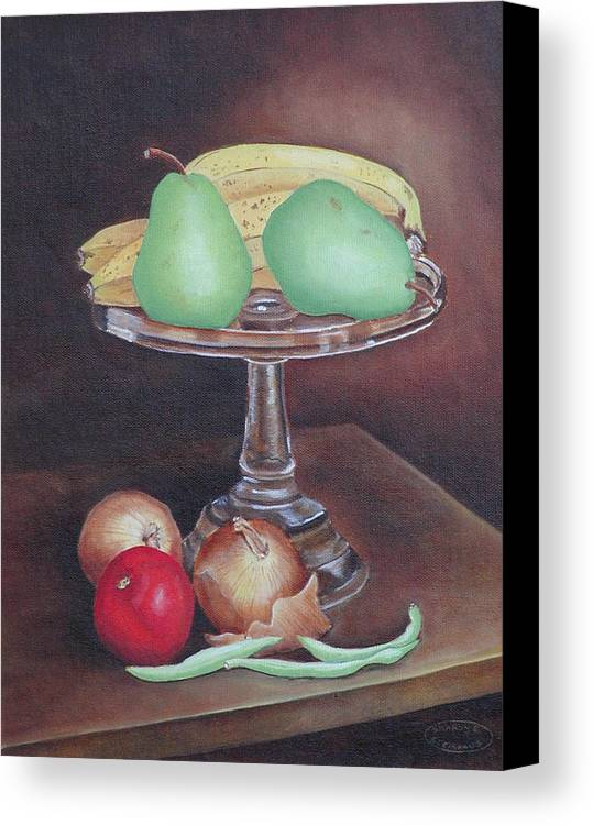 Still Life Canvas Print featuring the painting Essentials by Sharon Steinhaus