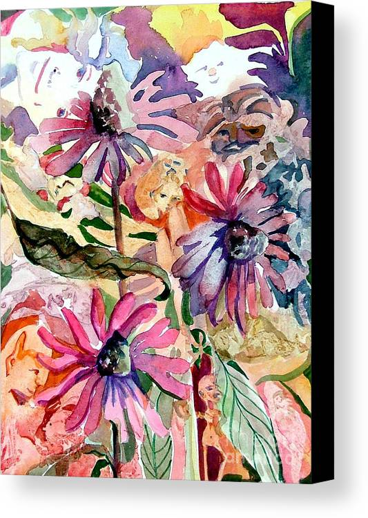 Daisy Canvas Print featuring the painting Fairy Land by Mindy Newman