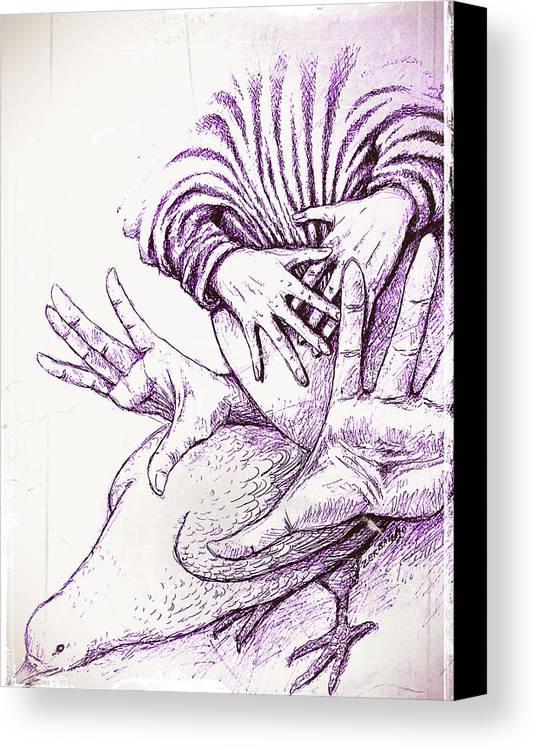 Pregnancy Canvas Print featuring the digital art Fecundate A Future Of Peace by Paulo Zerbato