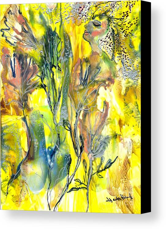 Healing Canvas Print featuring the painting Feeling Of The Heart by Heather Hennick