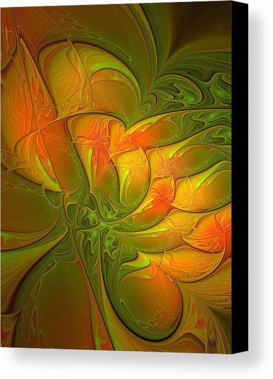 Digital Art Canvas Print featuring the digital art Fiery Glow by Amanda Moore