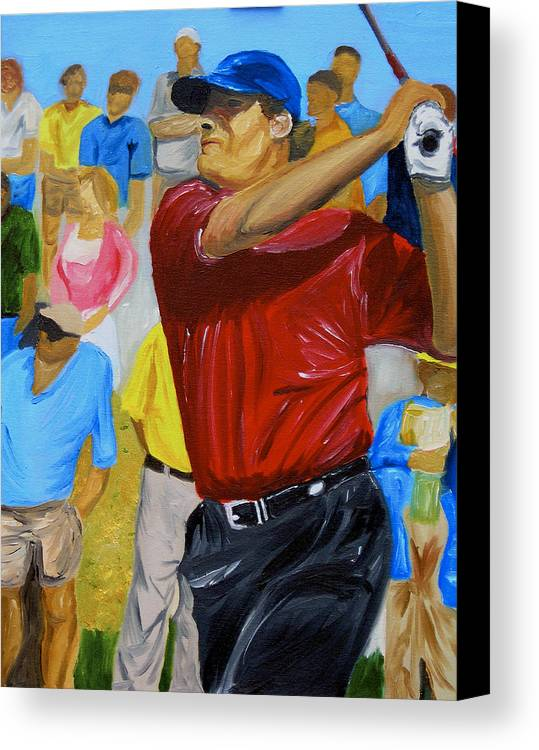 Golf Canvas Print featuring the painting Four by Michael Lee