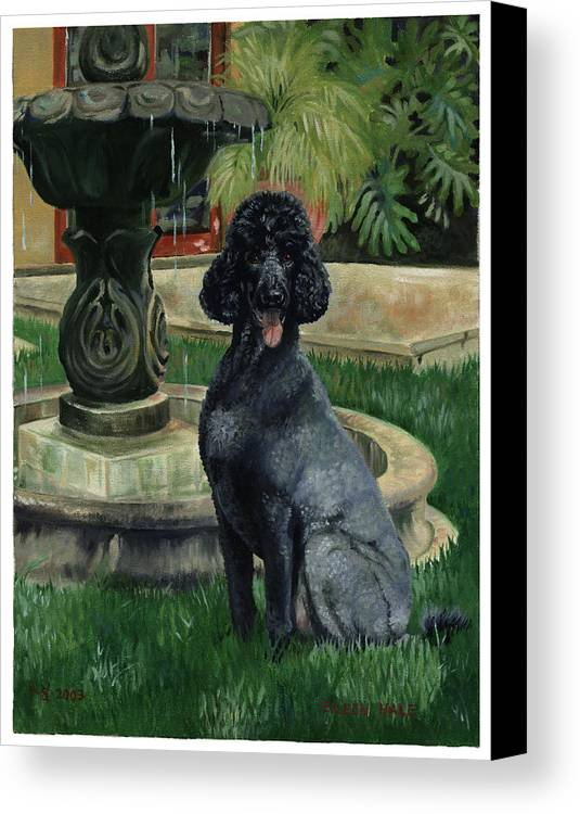 Portrait Canvas Print featuring the painting Frankie by Eileen Hale