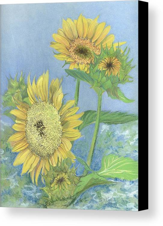 Florals Canvas Print featuring the painting Garden Beauties by Lisa Bell