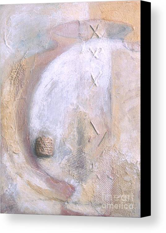 Collage Canvas Print featuring the painting Give And Receive by Kerryn Madsen-Pietsch