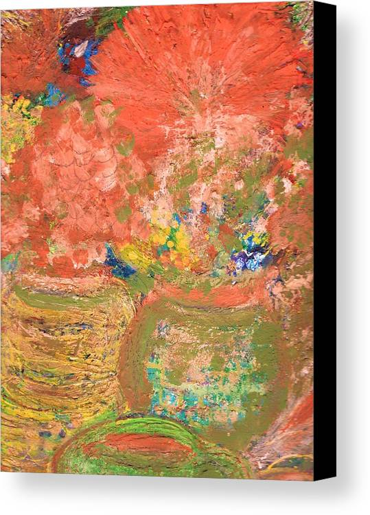 Flores Canvas Print featuring the mixed media Good Morning El Mundo by Anne-Elizabeth Whiteway