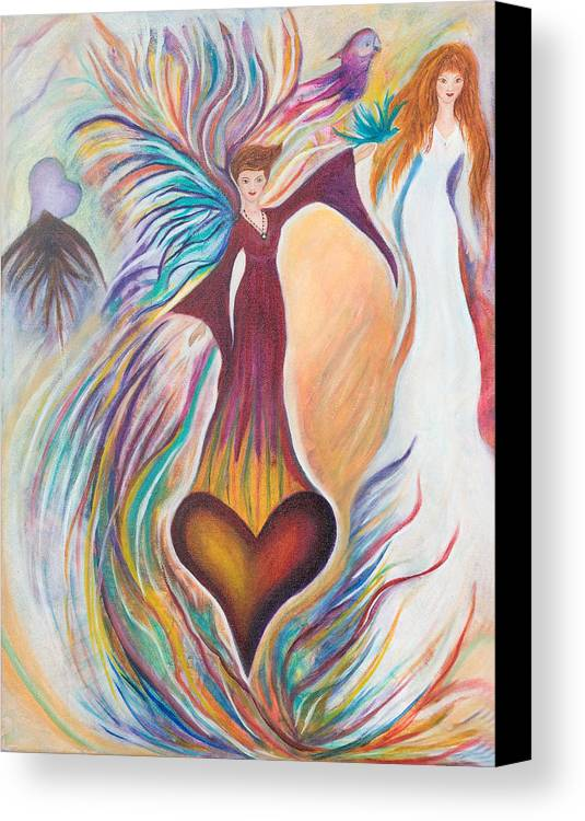 Heart Canvas Print featuring the painting Heart Goddess by Leti C Stiles