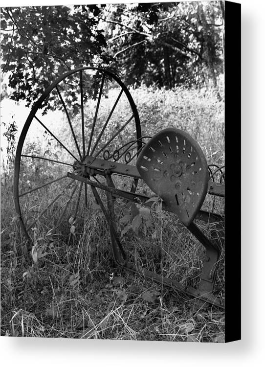 Ansel Adams Canvas Print featuring the photograph Hogeye Hayrake by Curtis J Neeley Jr