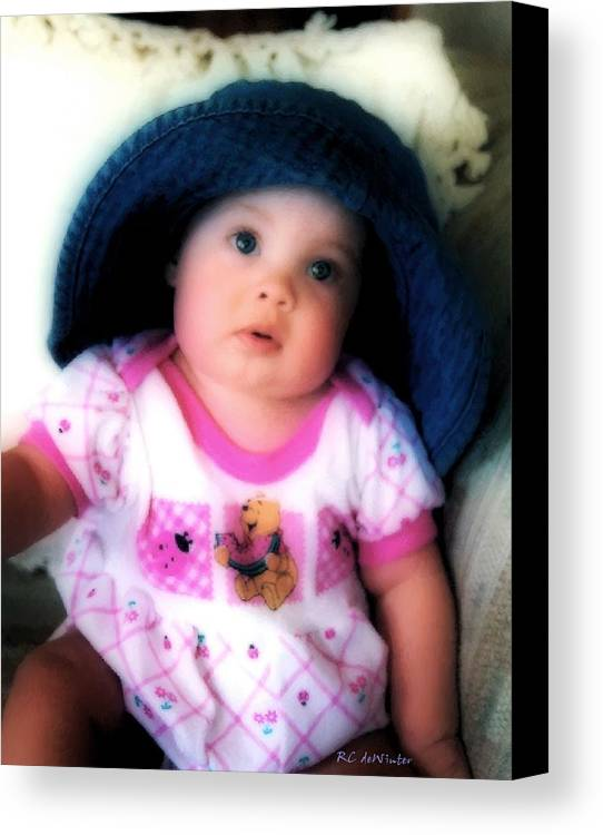 Baby Canvas Print featuring the digital art I Dont Think So by RC DeWinter