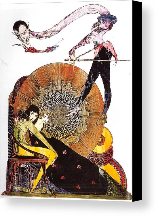 Faust Canvas Print featuring the painting Illustration From Faust by Harry Clarke