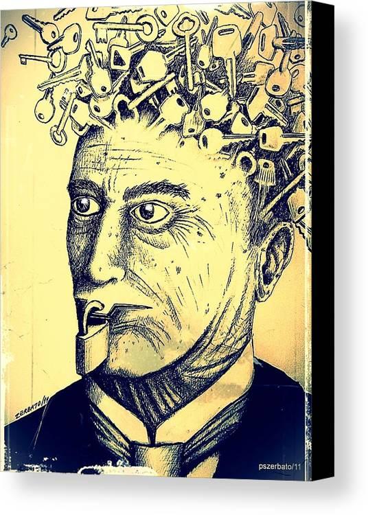 Impossibility Of Communication Canvas Print featuring the digital art Impossibility Of Communication by Paulo Zerbato