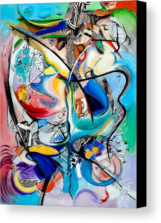 Abstract Canvas Print featuring the painting Intimate Glimpses - Journey Of Life by Kerryn Madsen-Pietsch