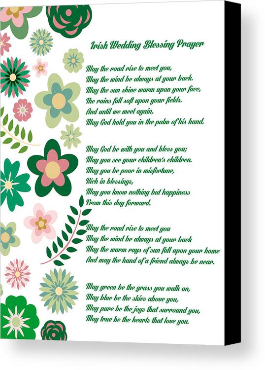 Irish Wedding Blessing Prayer Canvas Print / Canvas Art by Celestial ...