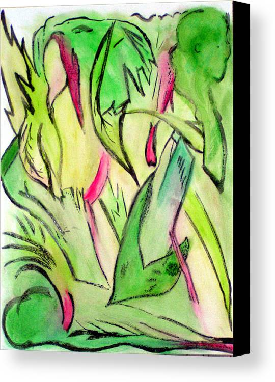Jungle Canvas Print featuring the painting It's A Jungle Out There by Anita Kimball