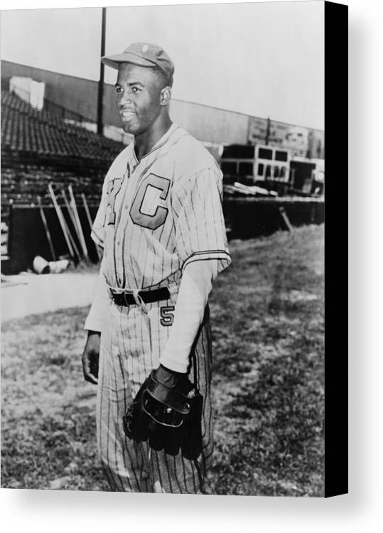 History Canvas Print featuring the photograph Jackie Robinson 1919-1972 In Kansas by Everett