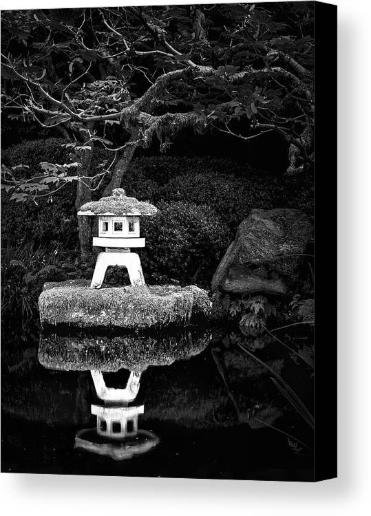 Japanese Garden Reflection Canvas Print featuring the photograph Japanese Garden Reflection by Janet Ballard