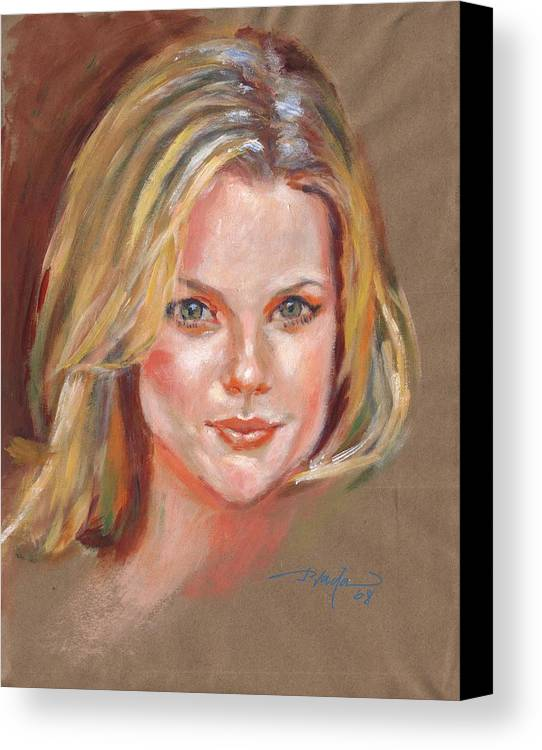 Portrait Canvas Print featuring the painting Joanna by Horacio Prada