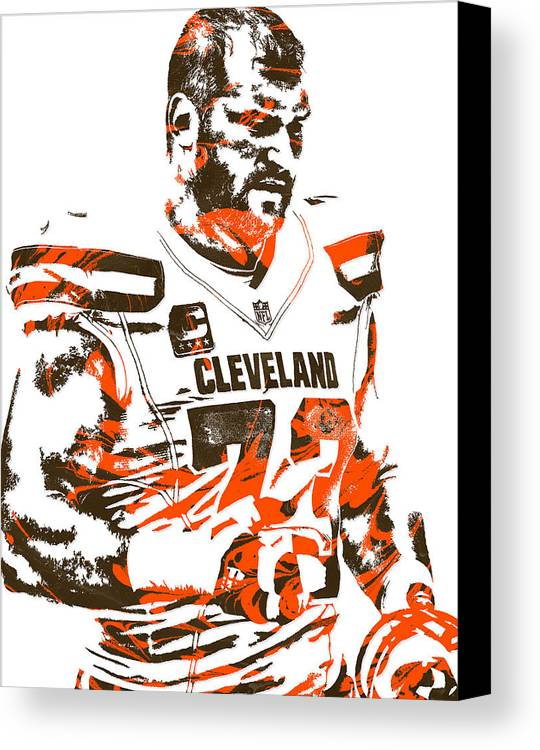Joe Thomas Cleveland Browns Pixel Art 2 Canvas Print / Canvas Art by ...