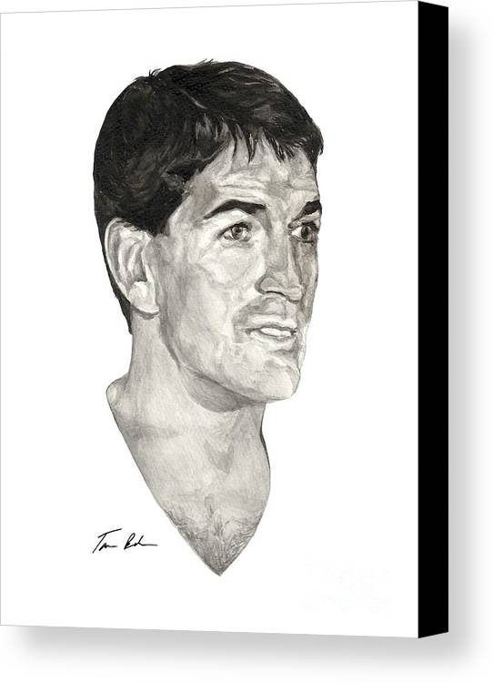 John Stockton Canvas Print featuring the painting John Stockton by Tamir Barkan